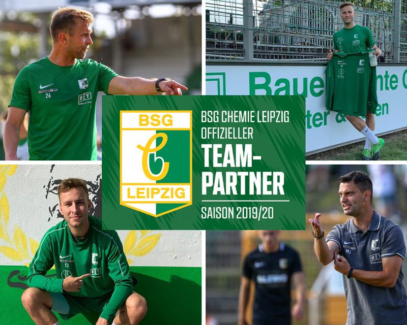 Foto-Collage neuer Teamsponsor BSG Chemie Leipzig